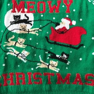 "Shirts & Tops - Toddler Meowy Christmas ""Ugly"" Sweater"